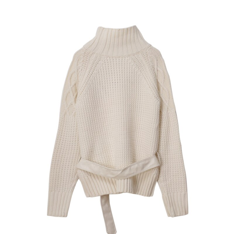 Winter  2021 Sweater Women Sweater Apricot  Crew Neck Long Sleeve Fashion Pullover  S ML enlarge