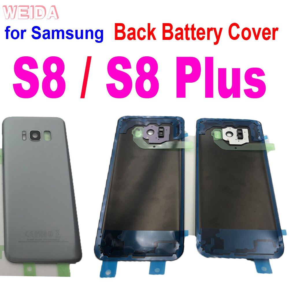 Samsung S8 Back Battery Cover For Samsung Galaxy S8 G950 SM-G950F S8 Plus S8+ Housing Cover G955 SM-G955F Back Rear Glass Case