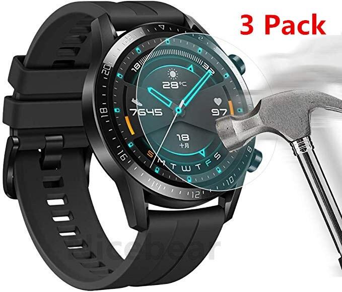 3 pacote para huawei relógio gt 2 (46mm) honra magia 2 (46mm) protetor de tela de vidro temperado 9 h smartwatch vidro de proteção