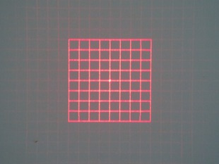 D12X40mm Customized 650nm Square Grid D10x10mm DOE 50mw with 42 degree fan angle Laser Module
