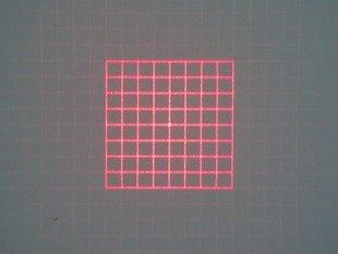وحدة ليزر بزاوية مروحة 42 درجة ، وحدة DOE 50mw ، شبكة مربعة 650 نانومتر ، d12x40 مم ، مخصصة