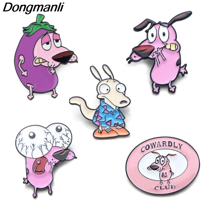 P3995 Dongmanli Cartoon Jewelry Cute Dogs Metal Enamel Pins and Brooches Fashion Lapel Pin Badge Funny Gifts