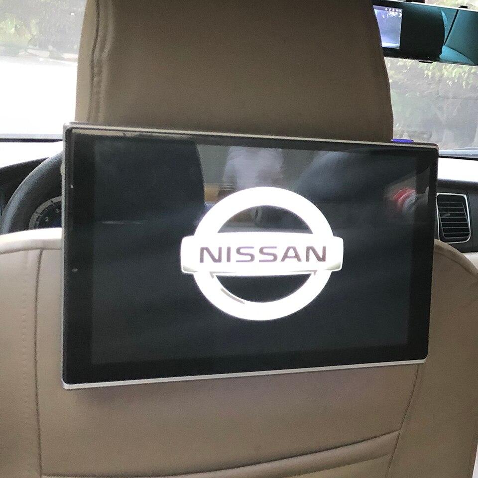 11,8 zoll Auto Fernsehen Auto TV Monitor Bluetooth Musik Kopfstütze DVD Bildschirm Für Nissan Android Hinten Sitz Unterhaltung System