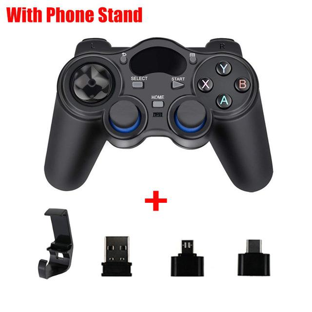 Inalámbrico controlador Joystick Gamepad con Micro adaptador USB tipo C para PS3 teléfono inteligente Android TV Box tableta del ordenador portátil PC