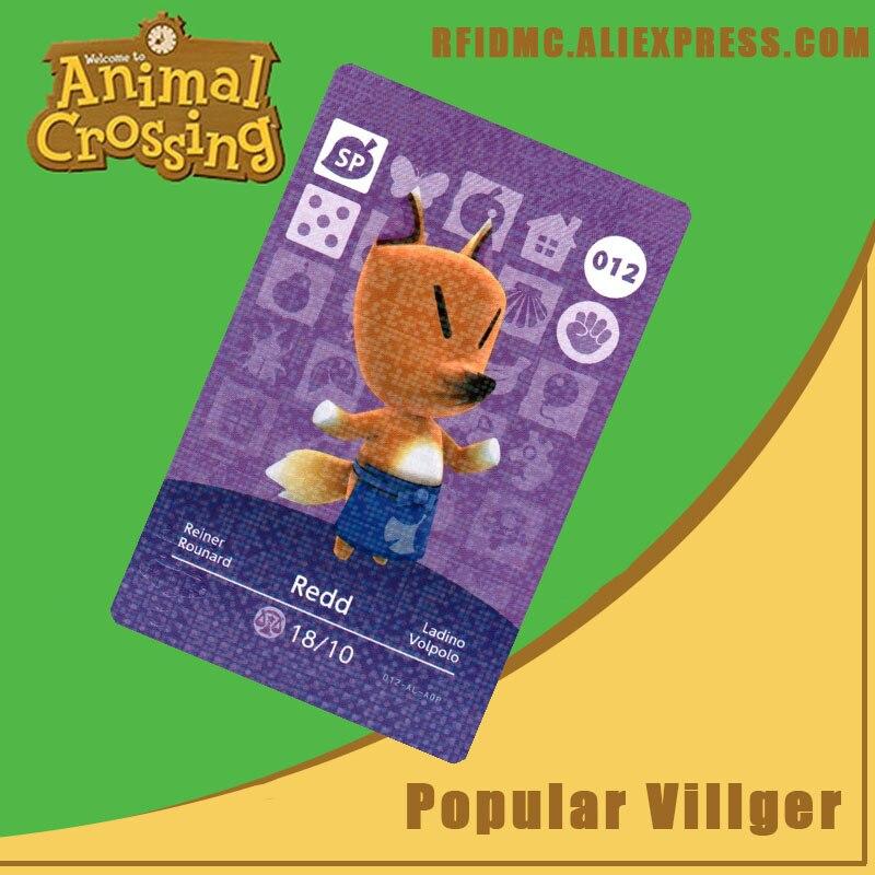 012 Redd Animal Crossing Card Amiibo for New Horizons