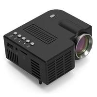 Mini Portable UC28CB projecteur 500LM Home Cinema Cinema Multimedia VIDEOPROJECTEUR LED Dusb de Soutien TF CARTE prise UE USA