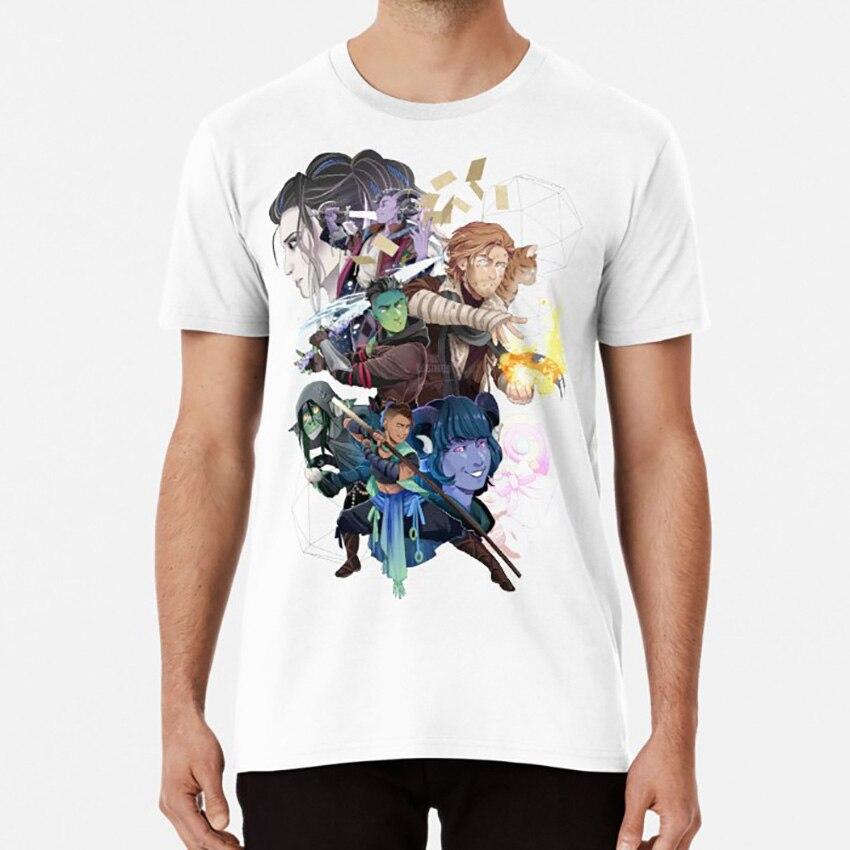 Camiseta de The Mighty Nein con el papel clave de jester yaha y el de Mark mollymauk
