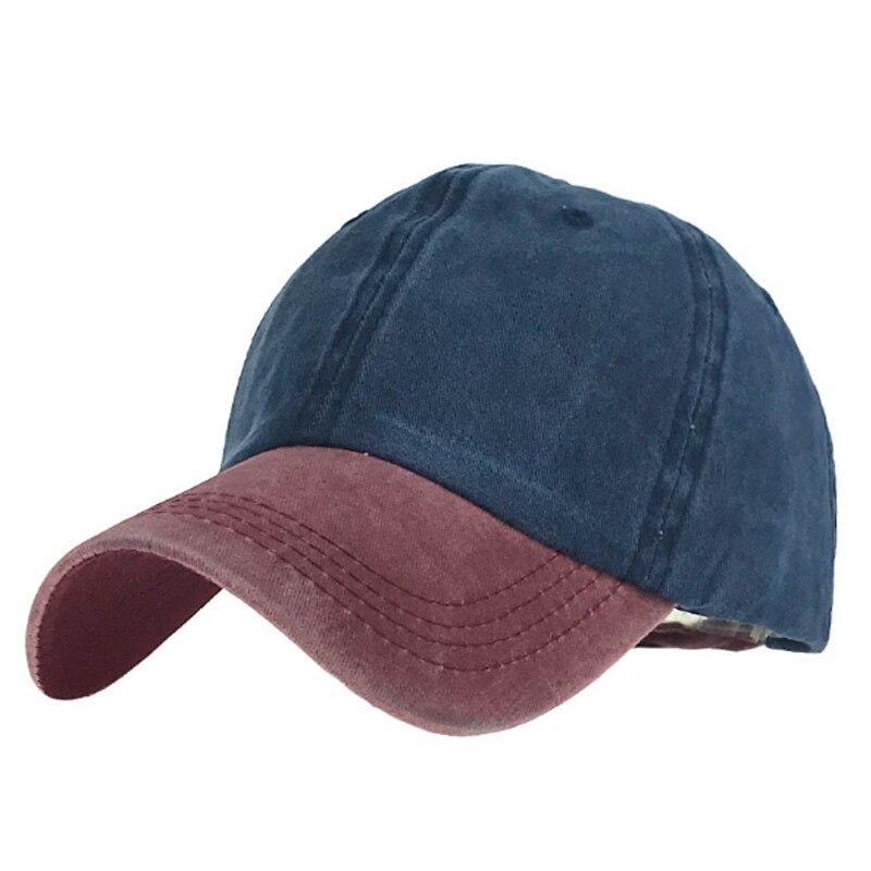 7 Color Washed Cotton Baseball Caps Solid Color Snapback Caps Hip Hop Women Men Bone Hats Fashion Casual Dad Casquette Gorras