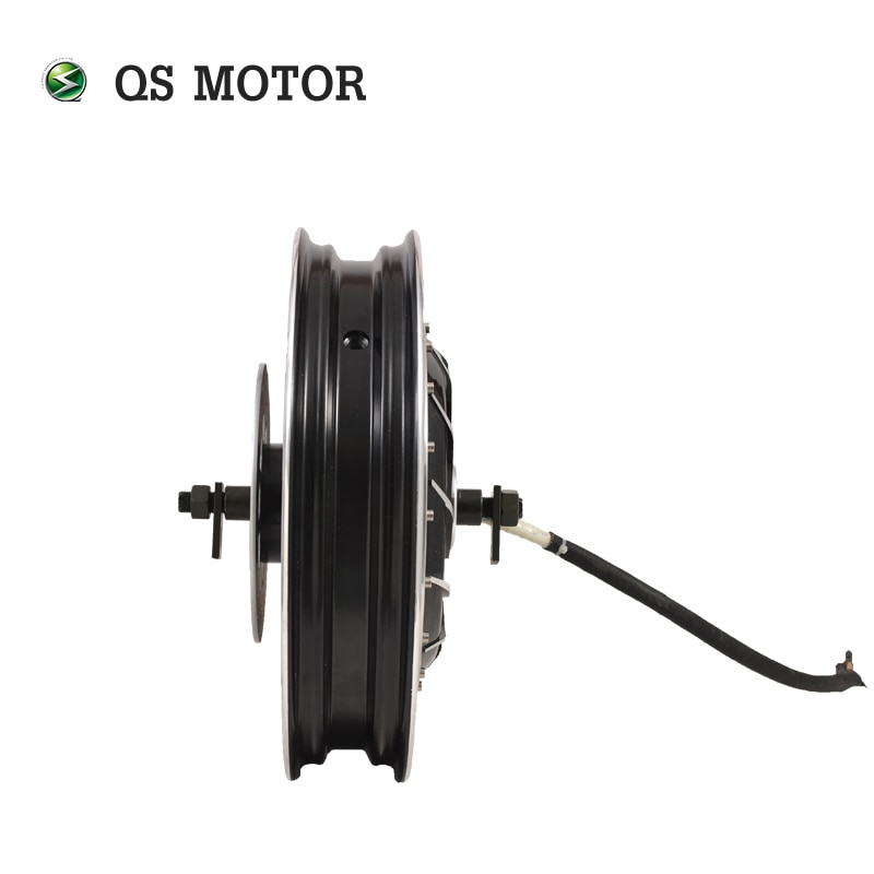 QS Motor 17*3.5inch 8000W 273 V3 Hot Sale BLDC In Wheel Motor Dual Shaft Hub Motor For Electric Scooter/E-Motorcycle enlarge