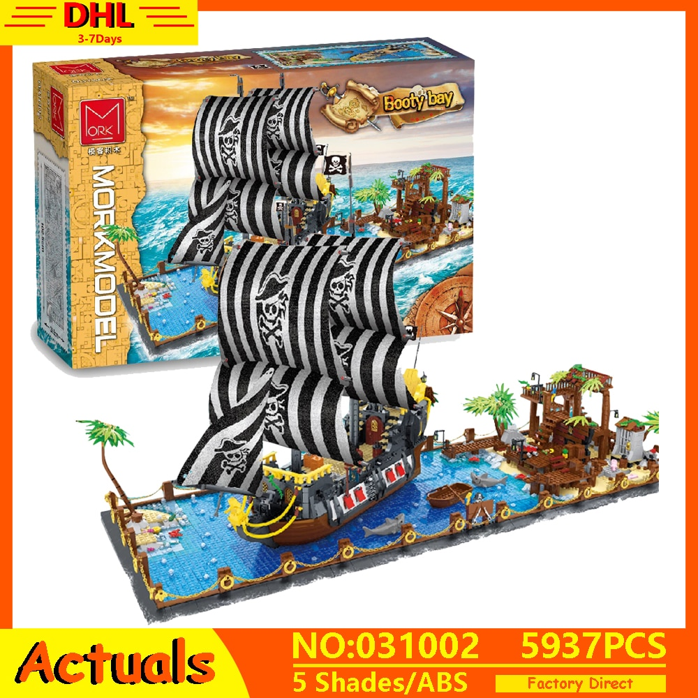 مكعبات بناء سفينة القراصنة للأطفال ، أفكار إبداعية جديدة ، سلسلة ، مكعبات بناء ، ألعاب تعليمية للأطفال ، قارب شراعي ، هدايا عيد الميلاد