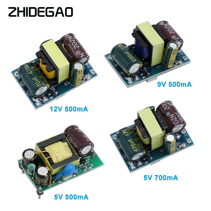 AC-DC-convertidor Buck de precisión de 5V, 700mA, 12V, 500Ma, 9V, 3,5 W, CA de 220V a 5V CC, módulo de fuente de alimentación de transformador reductor