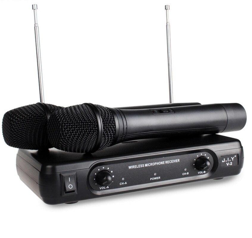 يده ميكروفون لاسلكي كاريوكي لاعب المنزل كاريوكي صدى خلاط نظام الصوت الرقمي جهاز مزج الصوت آلة الغناء