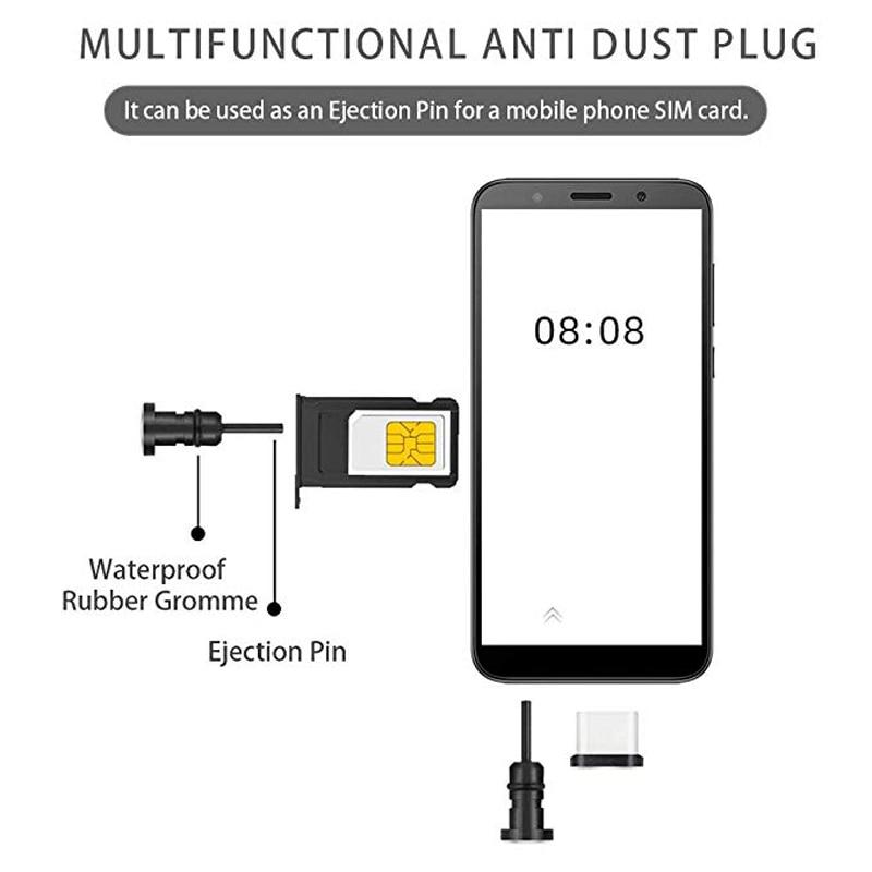 Защитные Заглушки от пыли с usb-портом, с крышкой для наушников, 2 пары, чехол с защитой от пыли для смартфона, защита от пыли-1
