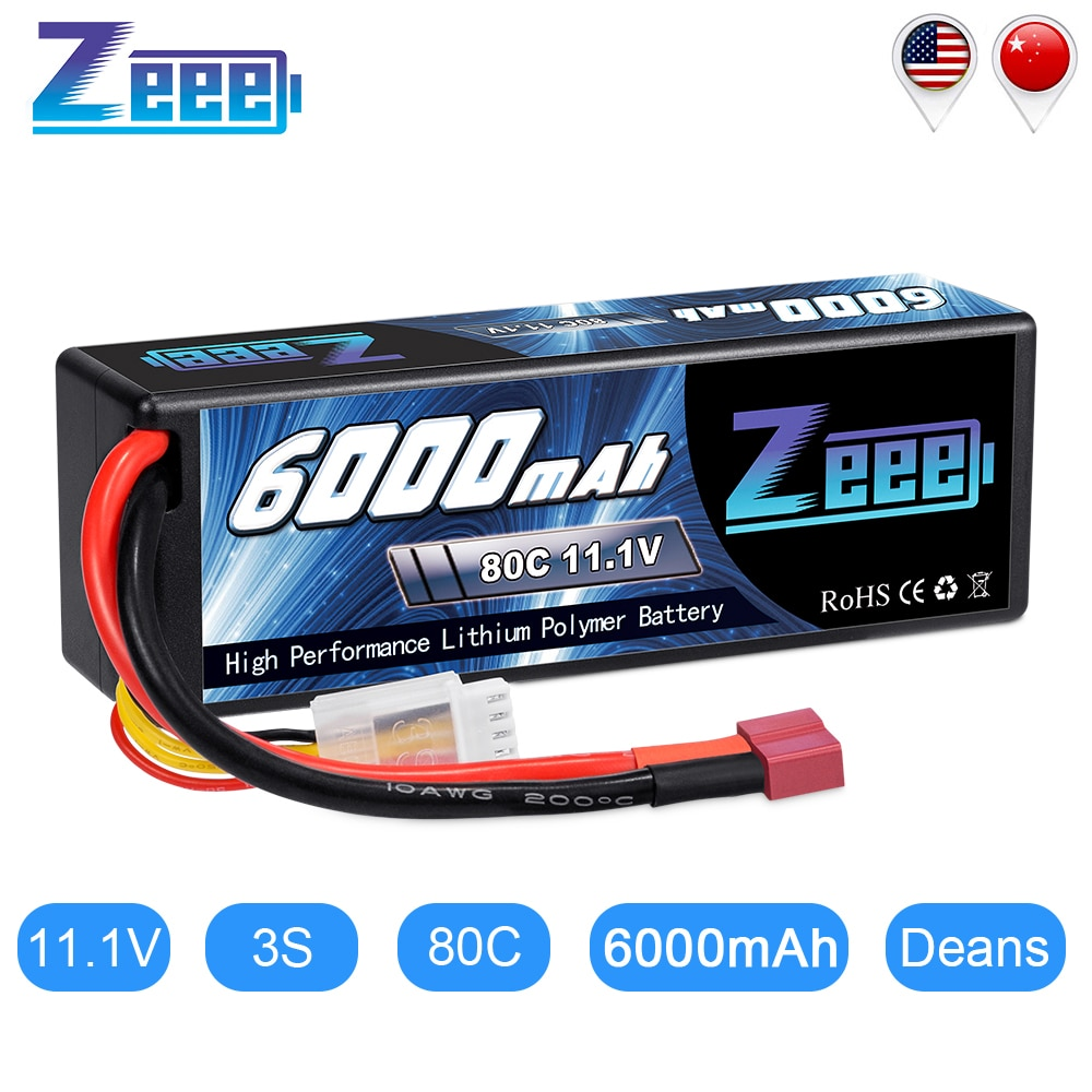 vho rc lipo battery 7 4v 6000mah 40c 4pcs 2s battery and eu charger for rc helicopter car boat quadcopter li polymer batteria Zeee 11.1V 6000mAh 3S 80C Lipo Battery with Deans Plug RC Battery Charger for RC Car Truck Truggy FPV Airplane RC Helicopter