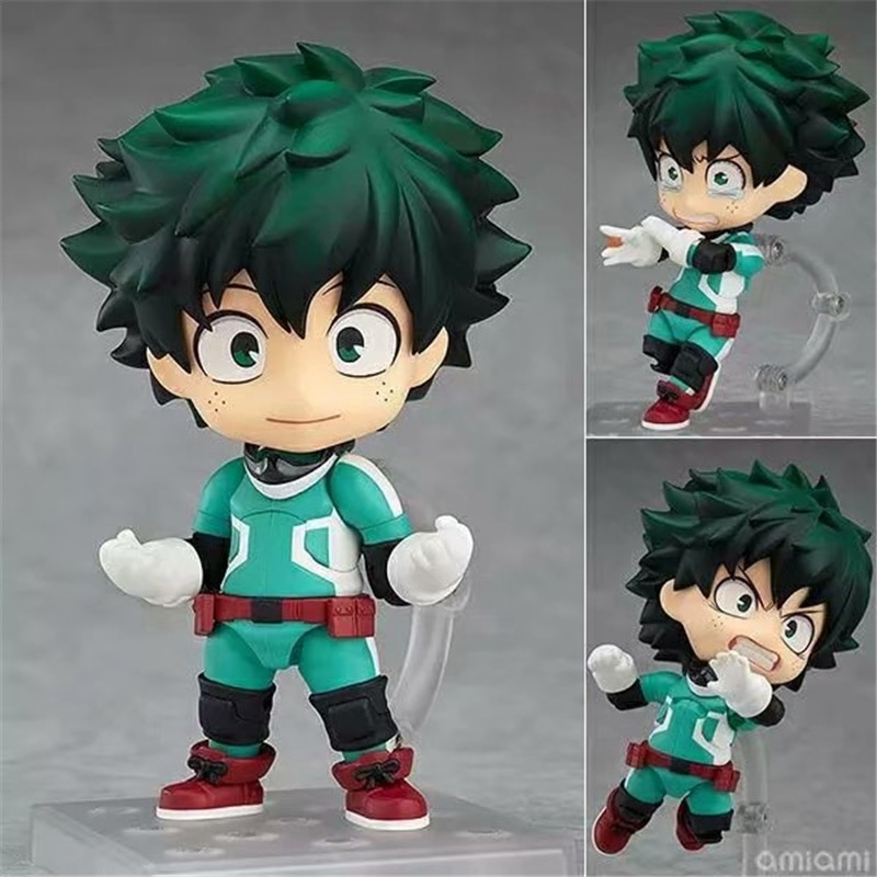 10cm Anime My Hero Academia Todoroki Shoto Q Version Face-changing Doll Cartoon Exquisite Packaging PVC Action Model Figure Toy