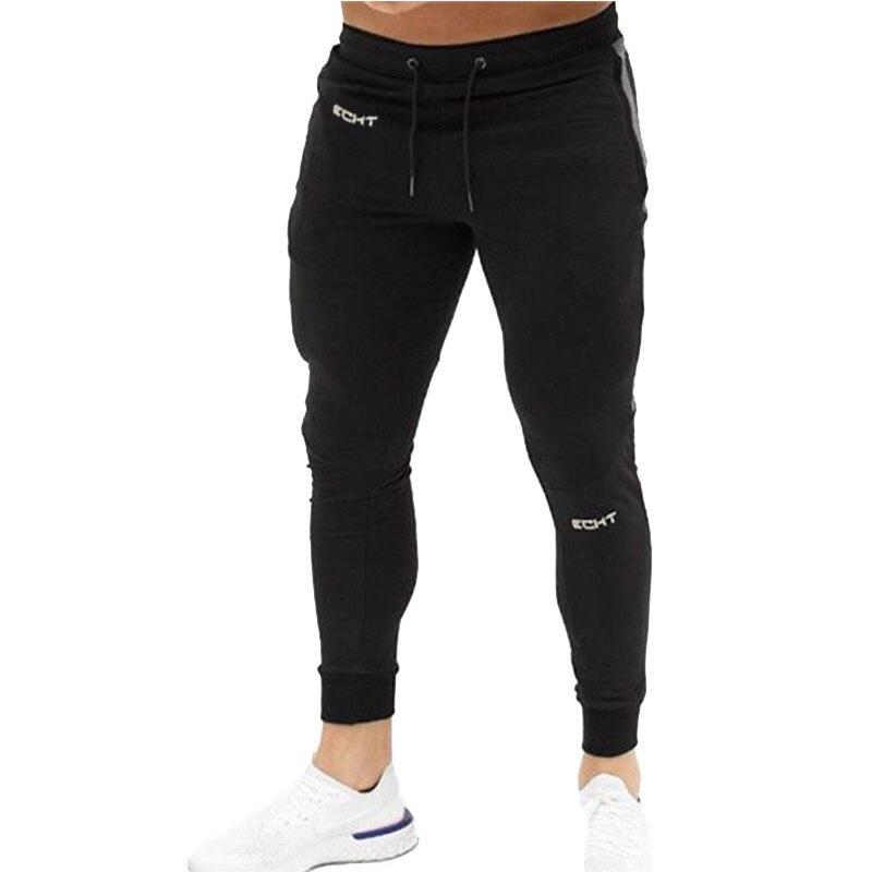 Брюки мужские облегающие повседневные, джоггеры, спортивные штаны для бега, хлопковые спортивные штаны, тренировочные штаны для спортзала, ...