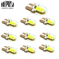 10x cob t10 led w5w led no error silicone led t10 for car parking lights clearance bulbs interior dome plate lights 12v