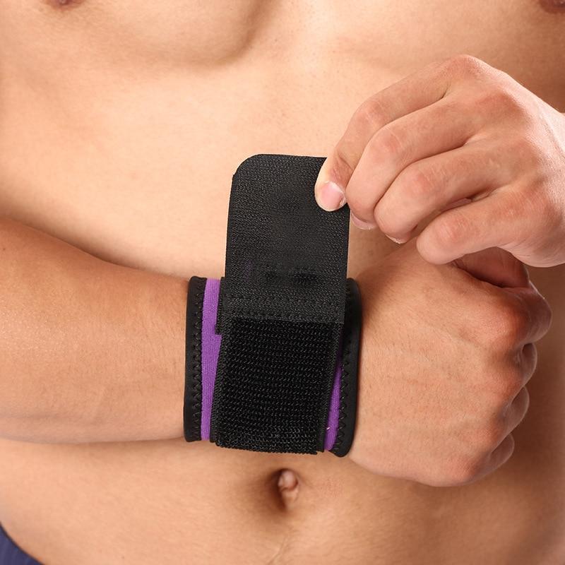 Купить с кэшбэком CHAOBA 1PCS Summer Wrap Compression Weightlifting Wrist Compression Wristband Breathable Anti-sprain Wristband
