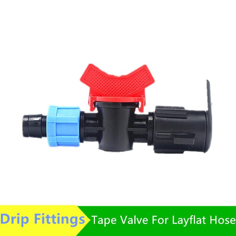 Ленточный клапан для плоского шланга Dn17(16 мм), шарнирная лента для микроирригации Greenhoue капельные фитинги
