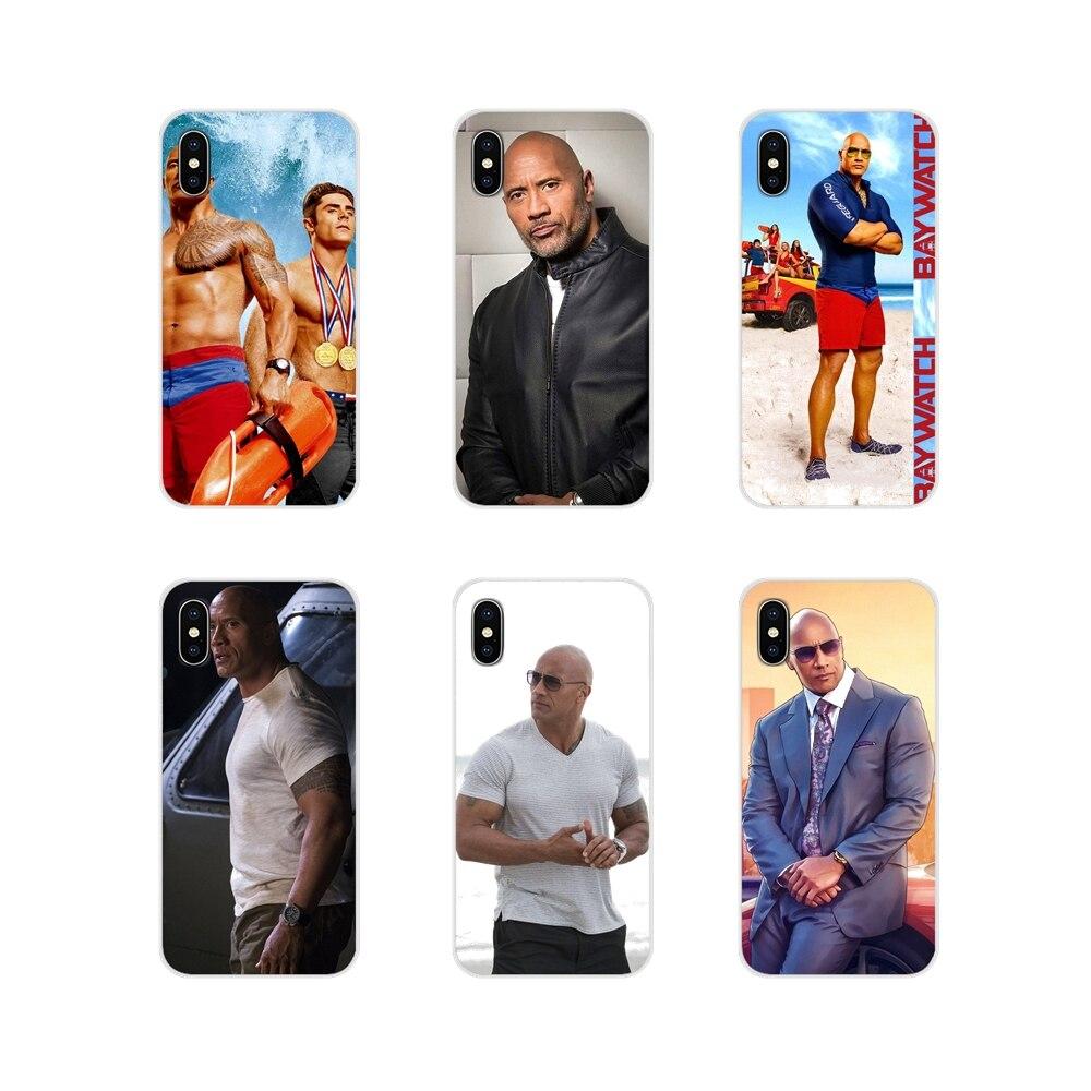 Para Apple iPhone X XR XS 11Pro MAX 4S 5S 5C SE 6 6S 7 7 Plus ipod touch 5 6 alboroto Dwayne Johnson accesorios cubiertas de los casos del teléfono