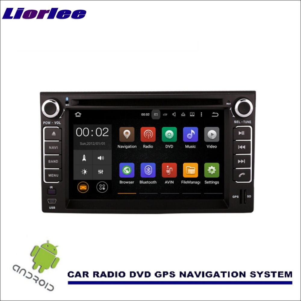 Liorlee para kia orgulho sedan 2005-2011 wince/android navegação de mídia do carro cd dvd player gps navi rádio estéreo multimídia tv bt