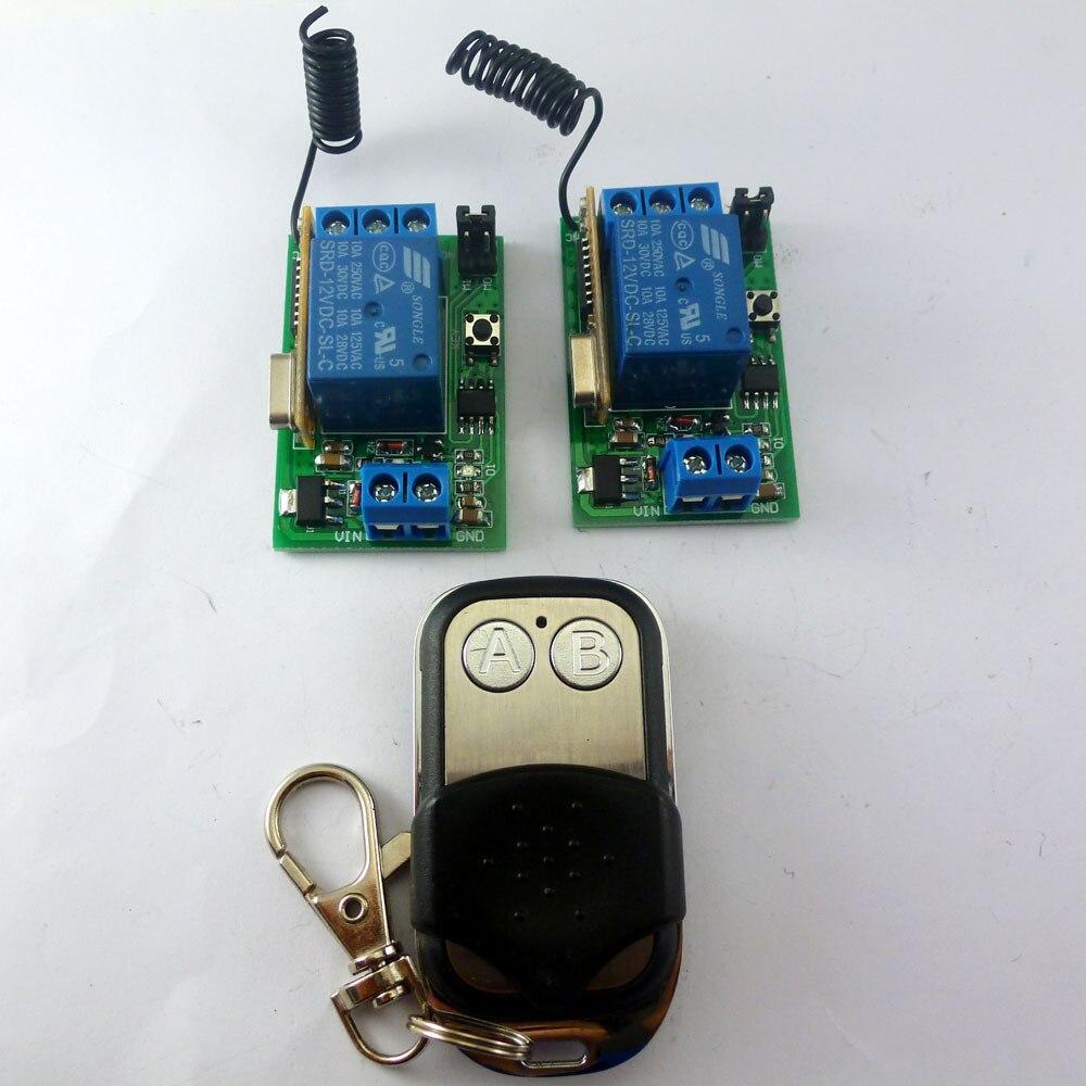 2 ключа EV1527 Беспроводной 433 м большой мощности и 1 канал обучения код приемник задержка реле переключатель для Светодиодный умный дом