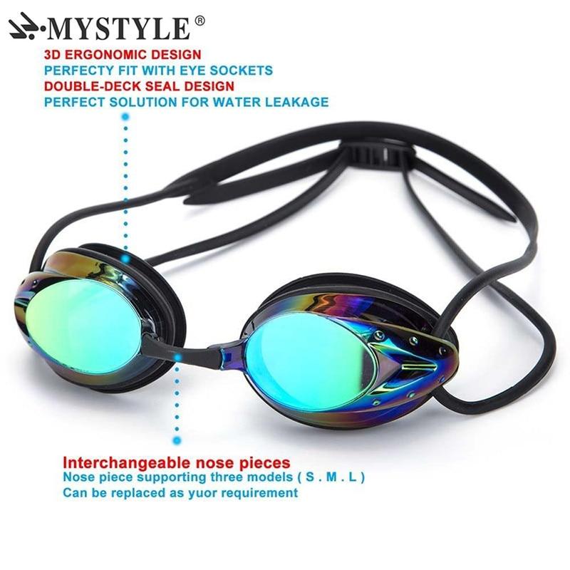 2020 Mystyle Swim Goggle Adult Adjustable Electroplating Water Resistant Anti-fog UV Protection Swimming Goggle 6 Colors Eyewear