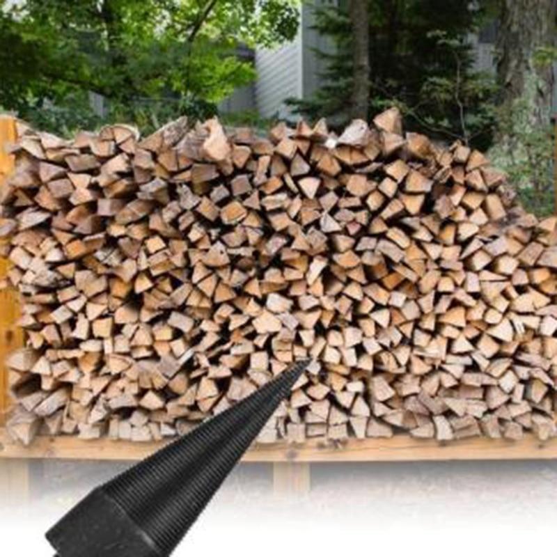 Tige hexagonale bois de chauffage séparateur Machine perceuse bois cône alésoir poinçon pilote foret fendu outils de forage