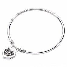 Nouveau 925 argent Sterling bracelets de cheville MOMENTS arbre de vie amour coeur cadenas fermoir Bracelet Bracelet ajustement perle breloque bricolage Europe bijoux