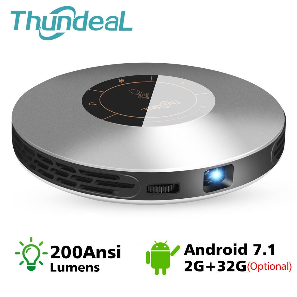 ThundeaL DLP проектор T18 Max WiFi Android 7,0 Карманный HDMI для 4K 2K 16G 32G супер-мини LED 3D T18MAX портативный проектор