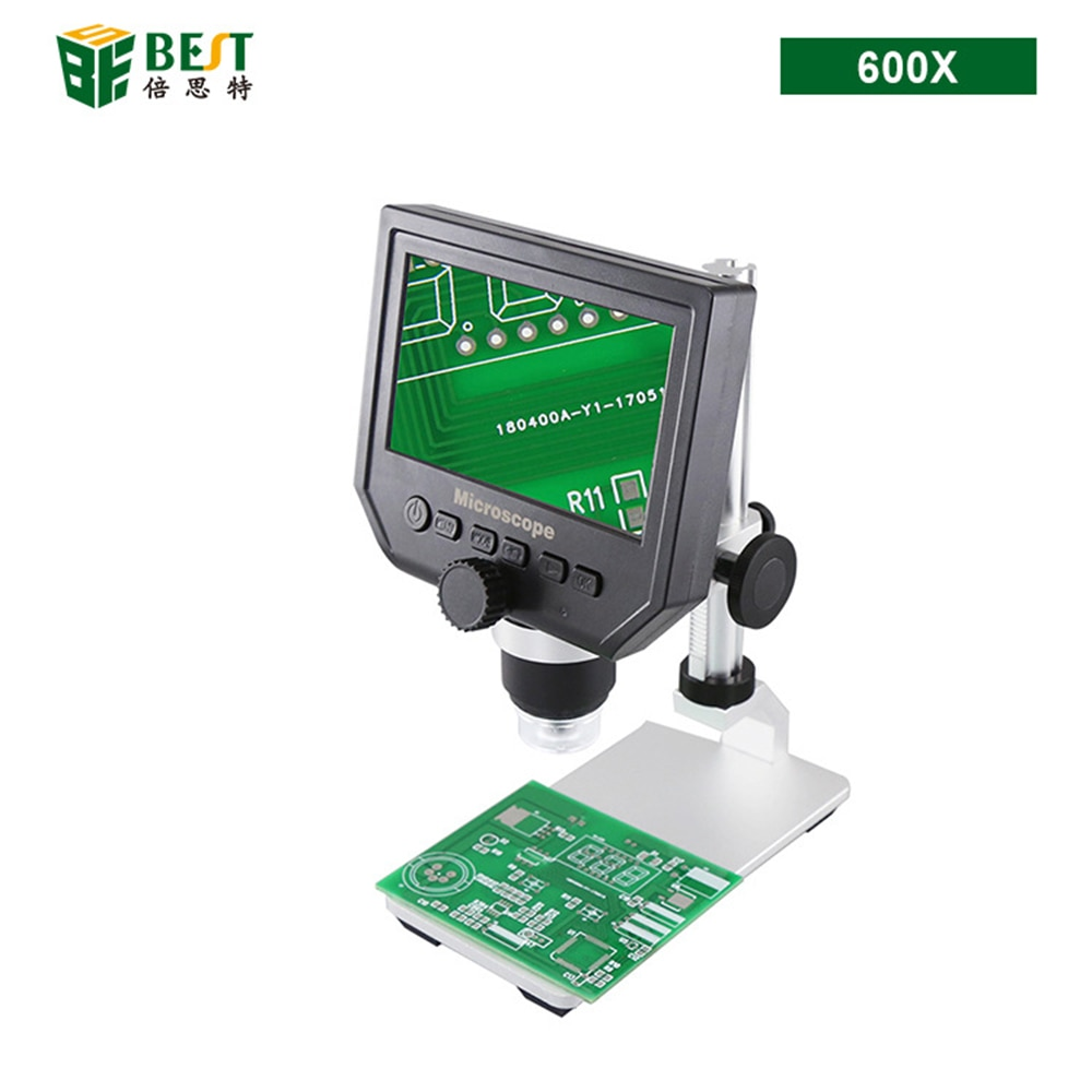Electronic Microscope for Laboratory Jewelry Mini HD Mobile Phone Repair Tools Magnifier Frame Microscope 600 Times 600x Metal