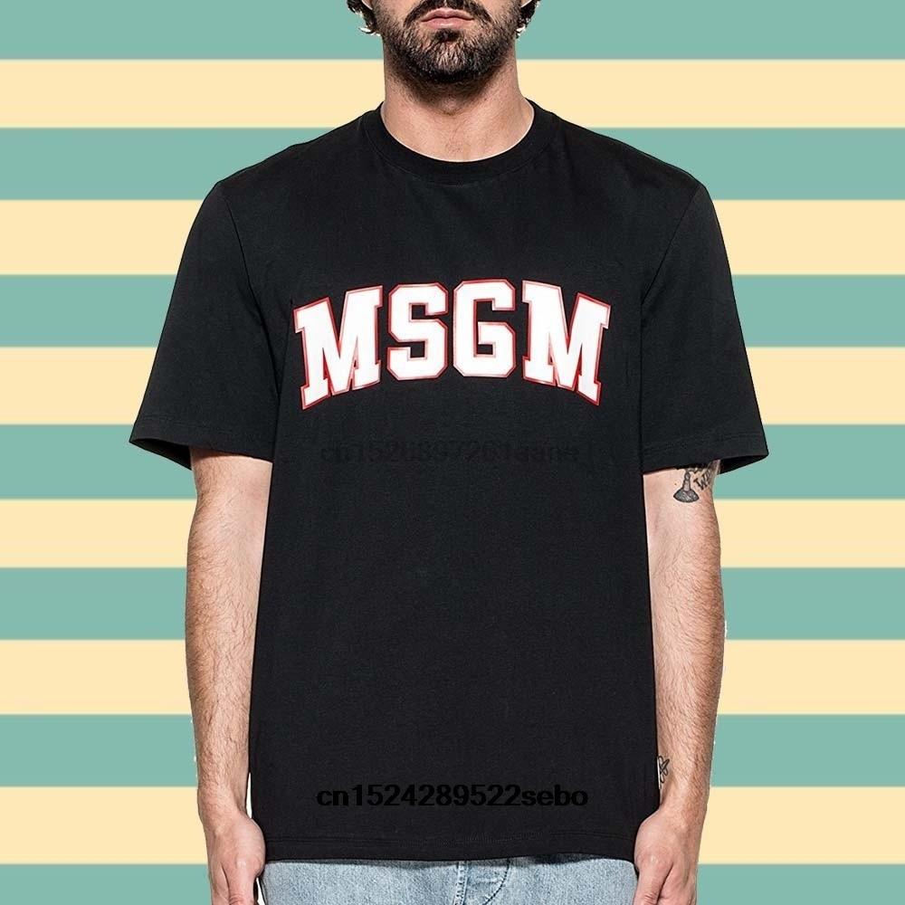 Camiseta de manga corta de algodón Msgm para mujer