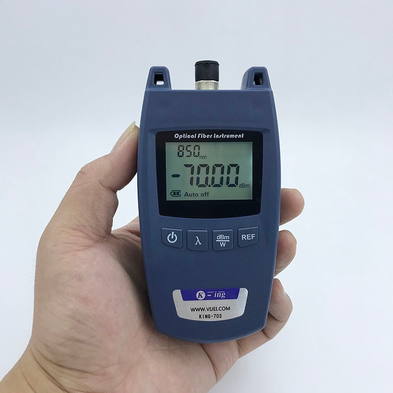 FTTH KING-70S Fiber Optical Power Meter Fiber Optical Cable Tester -70dBm~+10dBm Universal interface
