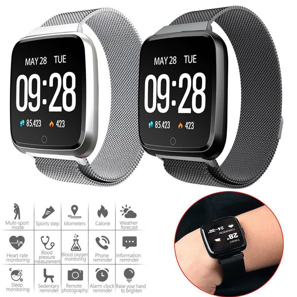 Pulsera inteligente S7, Monitor de frecuencia cardíaca y presión arterial, recordatorio de llamada, rastreador de Fitness, reloj inteligente impermeable para hombres y mujeres