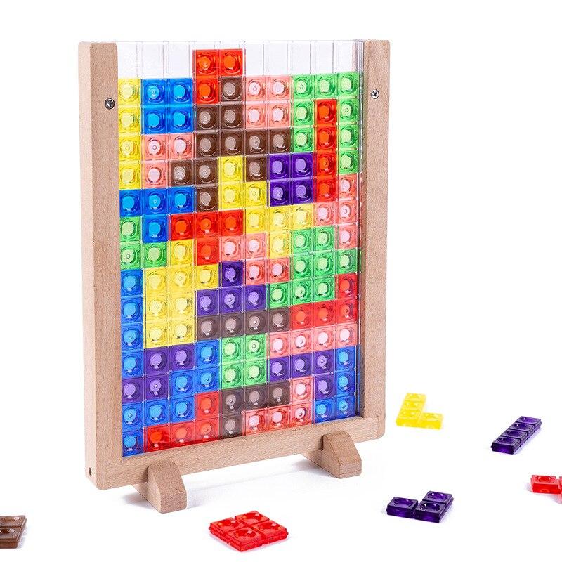 3D-головоломка для Тетрис, математическая игрушка, головоломки для детей, красочные головоломки, игра для магирования, интеллектуальная гол...