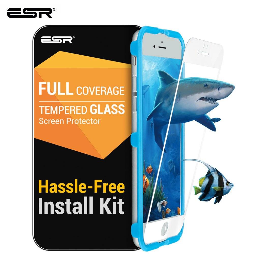 ESR Screen Protector für iPhone 6/6S/7/8 Plus Gehärtetem Glas Film Vollständige Abdeckung Anti-Explosion screen Protector Schutz Film