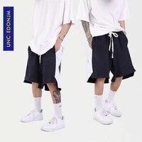 uncledonjm panelled plus size shorts mens street wear loose sweat shorts 2021 punk pants korean fashion shorts homme t13