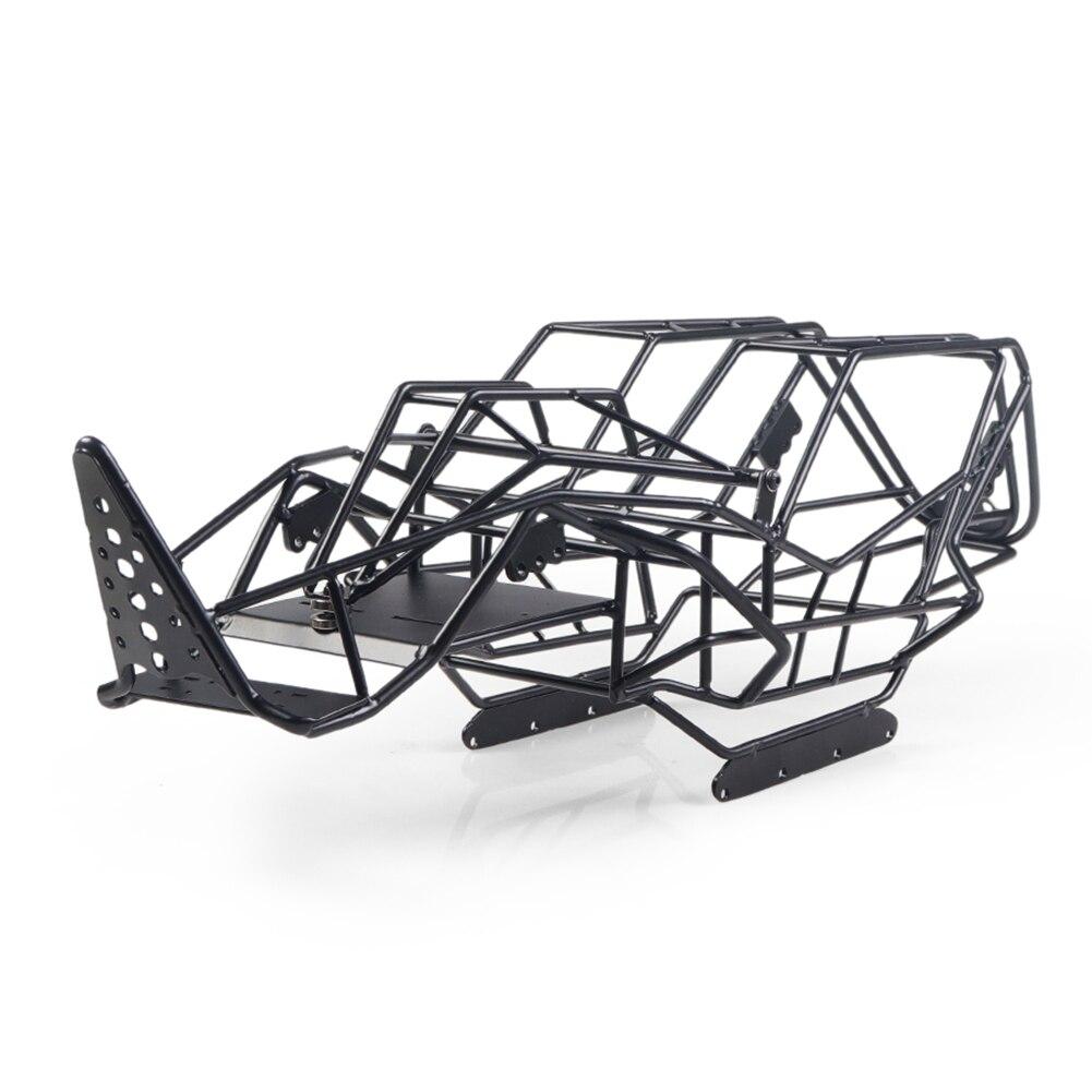 للمحور مع RCX10 1/10 الصلب لفة قفص الإطار الجسم أسود إطار فولاذي هيكل الجسم RC روك سيارة الزاحف تسلق قطع غيار شاحنات