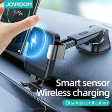 Aperto automático carro carregador sem fio 15w carga rápida sensor infravermelho suporte do telefone carro qi sem fio carregador de montagem suppor