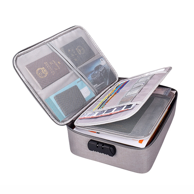 Multifunction Multi-layer Document Briefcase Suitcase Storage Bag Men's Handbag Household Office Travel Supplies Tool Accessory