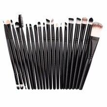 20pcs/set women Makeup Brushes Pro Blending Eyeshadow Powder Foundation Eyes Eyebrow Lip Eyeliner Ma