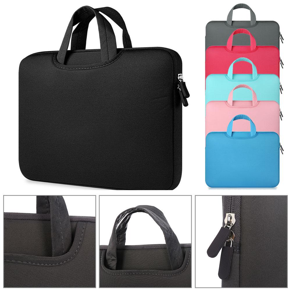 11 12 13 14 15 15.6 inch Laptop Bag Computer Sleeve Case Handbags Dual Zipper Shockproof Cover For iPad Pro Sumsung Macbook Pro