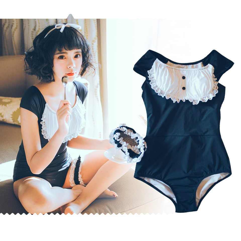 Adulto macacão bodysuit preto lolita maid traje ddlg adulto bady terno com arco para a menina boby badysuit