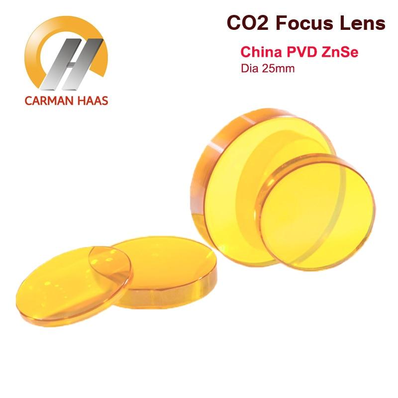 Фокусные линзы CARMANHAAS, Китай, линзы ZnSe, CO2 лазерные линзы диаметром 25 мм fl38,1 50,8 63,5 75 100 мм