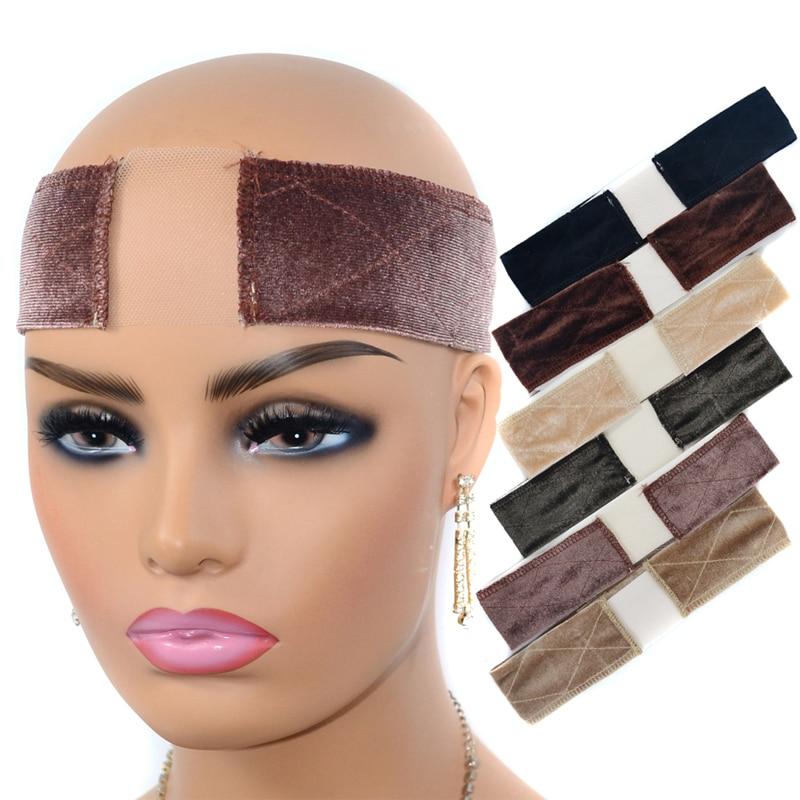 Wig Lace Girp Headband Hair Band Adjustable Velvet Sided Wig Elastic Band Durable Grips Big Girls Headbands Wiggery Accessery