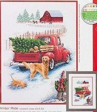 Cross Stitch Kit Embroidery Homfun Craft Bears Cross Stich Painting Joy Sunday Christmas Decorations For Home Homefun ZZ522