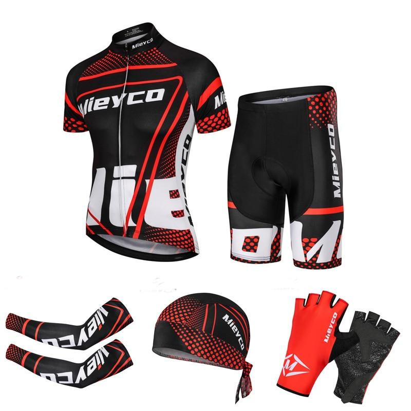 Mieyco Homem camisa de ciclismo Conjunto Roupas de Ciclismo Mountain Bike Maillot MTB Raça Verão Ropa ciclismo Roupas de Ciclismo Desgaste Da Bicicleta