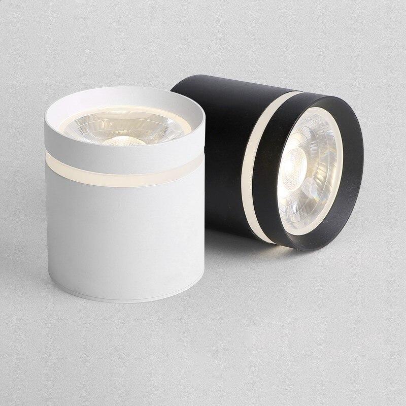 Luces LED empotradas de cilindro regulable, lámparas de fondo de iluminación interior,...