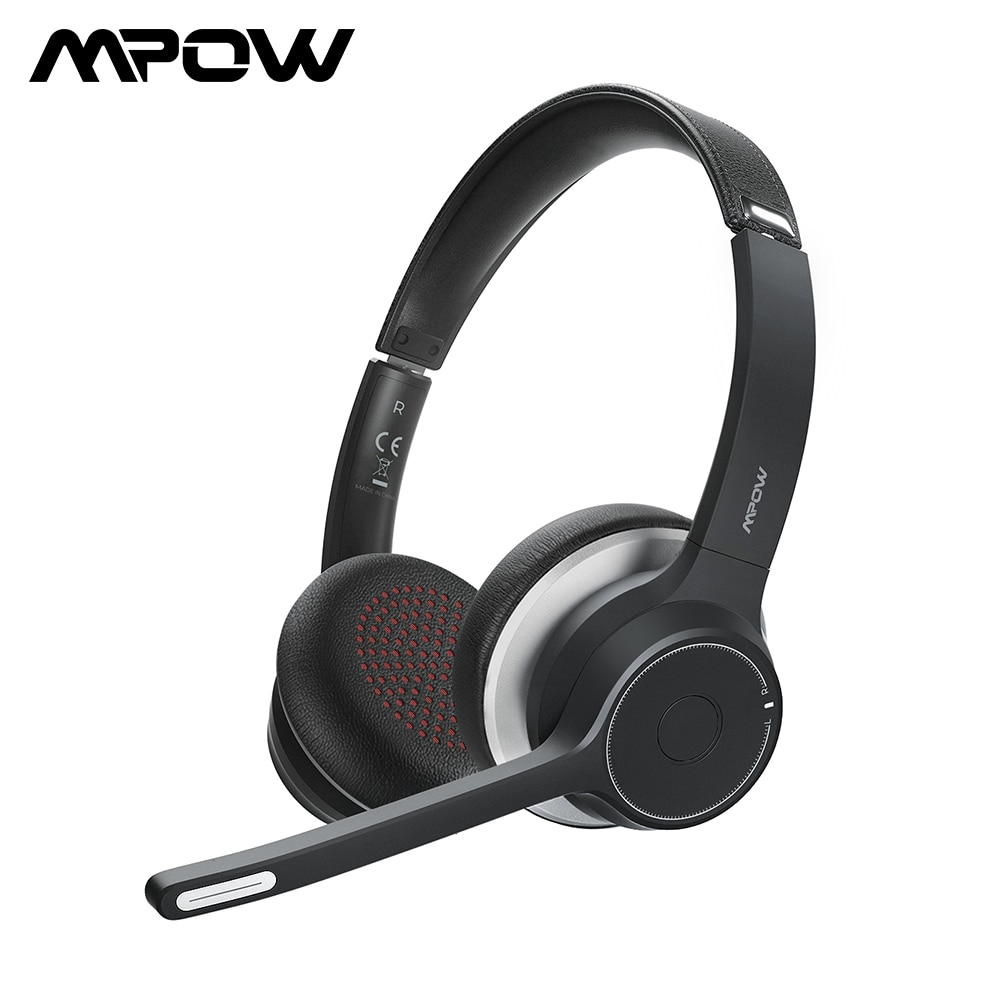 Mpow-سماعة رأس لاسلكية HC5 مزودة بتقنية البلوتوث 5.0 ، وسماعة رأس مزودة بcvc8.0 ، وإلغاء الضوضاء ، للهاتف والكمبيوتر الشخصي والمكتب
