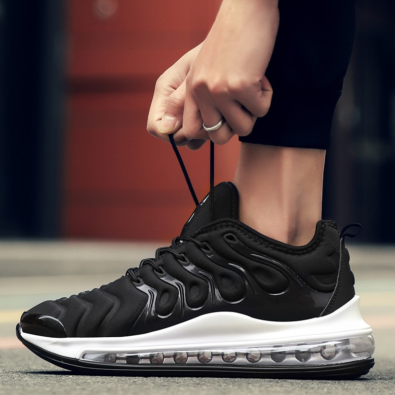 2021 Spring Cross-Border Men's Shoes Full Palm Cushion Running Shoes Korean Fashion Casual Men's Bre